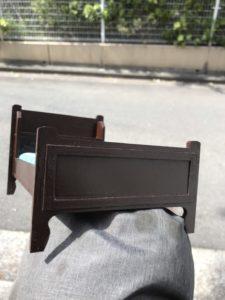 シンプルベッド1/6飾り枠足側